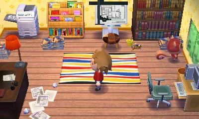 Animal Crossing comic artist house