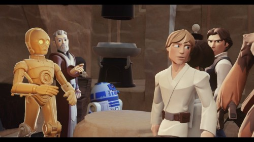 Disney Luke meets Obi Wan