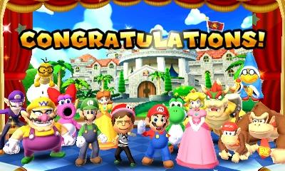 Mario Golf congratulations